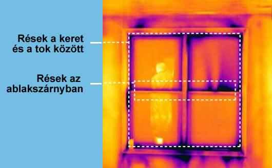 Hőkamerás vizsgálat ablaknál
