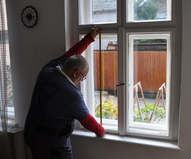 Ablakszigetelés, függőleges felmérés