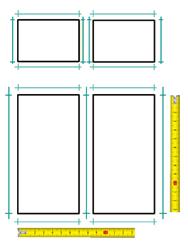 Kétszárnyú ablak felmérése ablakszigeteléshez
